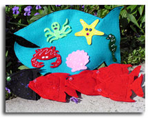 Ocean finger puppets by Adventureland Puppets by Joanne Schroeder images